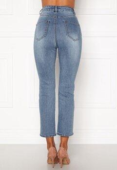 Happy Holly Maja high waist jeans Light denim Bubbleroom.eu