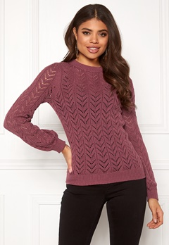 Happy Holly Malinda sweater Dark heather pink Bubbleroom.eu