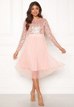 Happy Holly Mandy occasion dress Dusty pink Bubbleroom.eu