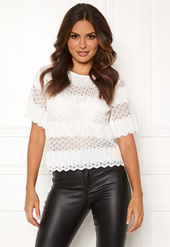 Happy Holly Maria lace top White Bubbleroom.eu