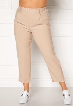 Happy Holly Maria straight leg pants Light beige Bubbleroom.eu