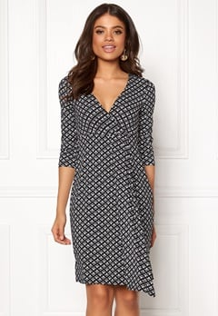 Happy Holly Mariana ls dress Black / Offwhite Bubbleroom.eu