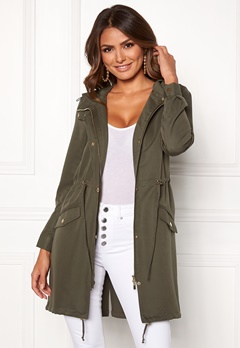 Happy Holly Meg parka Khaki green Bubbleroom.eu