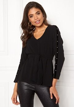 Happy Holly Michaela blouse Black Bubbleroom.eu