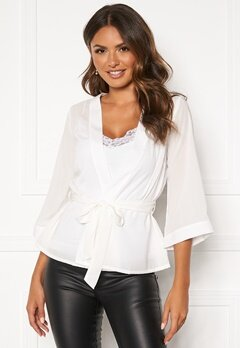Happy Holly Milla kimono blouse Offwhite Bubbleroom.eu