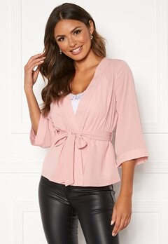 Happy Holly Milla kimono blouse Pink Bubbleroom.eu