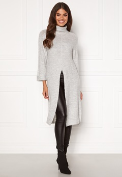 Happy Holly Milla long sweater Light grey melange Bubbleroom.eu