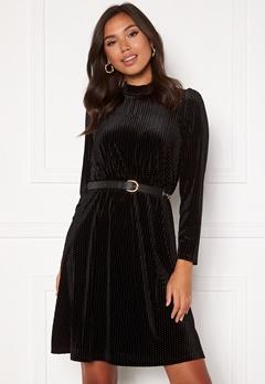 Happy Holly Milly velvet dress Black Bubbleroom.eu
