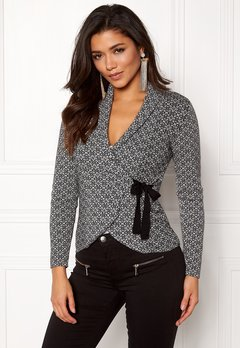 Happy Holly Mona cardigan Black / Offwhite Bubbleroom.eu
