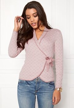 Happy Holly Mona Cardigan Dusty pink / Offwhite Bubbleroom.eu