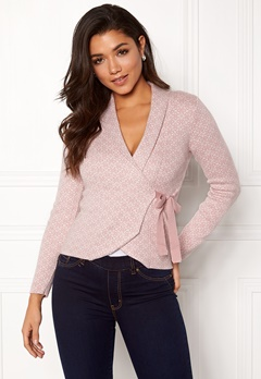 Happy Holly Mona cardigan Light pink / Offwhite Bubbleroom.eu