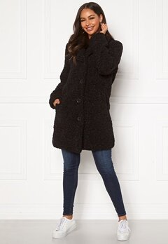 Happy Holly Nicole teddy coat Black Bubbleroom.eu