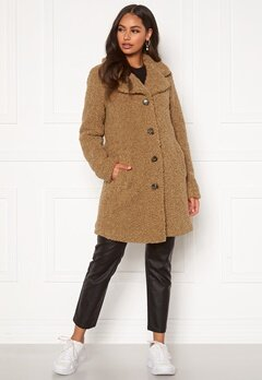 Happy Holly Nicole teddy coat Beige Bubbleroom.eu
