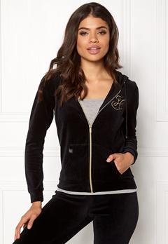 Happy Holly Nicole velour jacket Black Bubbleroom.eu