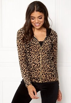 Happy Holly Nicole velour jacket Leopard Bubbleroom.eu