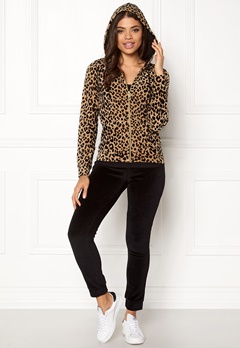 Happy Holly Nicole velour jacket Leopard Bubbleroom.eu