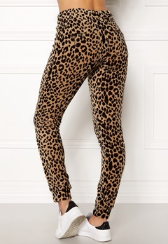 Happy Holly Nicole velour pants Leopard Bubbleroom.eu
