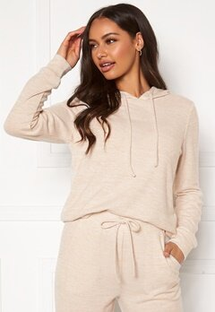 Happy Holly Nora cosy hoody Light beige / Melange Bubbleroom.eu