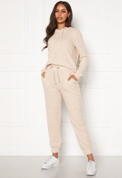 Happy Holly Nora cosy pants Light beige / Melange Bubbleroom.eu