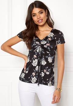 Happy Holly Paulina top Black / Patterned Bubbleroom.eu