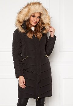 Happy Holly Rachel long jacket Black Bubbleroom.eu