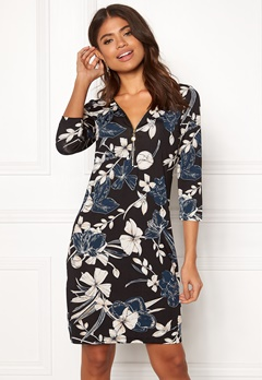 Happy Holly Renata dress Black / Patterned Bubbleroom.eu
