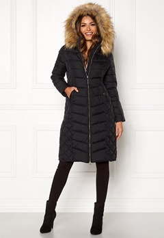 Happy Holly Sadie long jacket Black Bubbleroom.eu