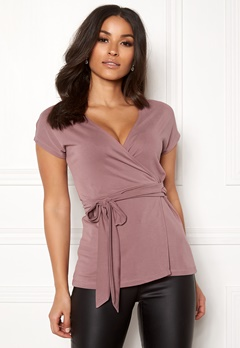 Happy Holly Samantha wrap top Heather pink Bubbleroom.eu