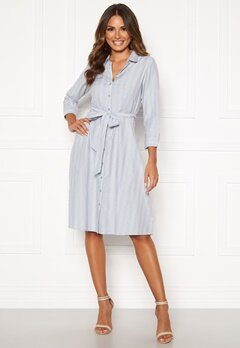 Happy Holly Sanna shirt dress Blue / Striped Bubbleroom.eu