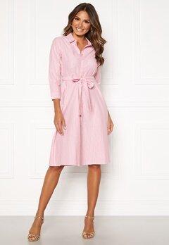 Happy Holly Sanna shirt dress Pink / Striped Bubbleroom.eu
