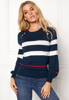 Happy Holly Sasha sweater Dark navy Bubbleroom.eu