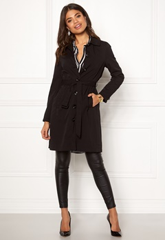 Happy Holly Scarlett coat Black Bubbleroom.eu