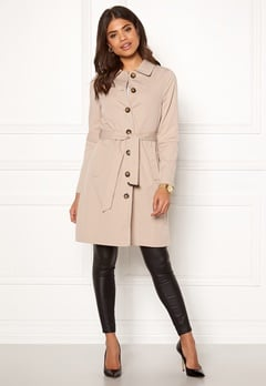 Happy Holly Scarlett coat Light beige Bubbleroom.eu