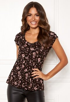 Happy Holly Scarlett top Black / Patterned Bubbleroom.eu