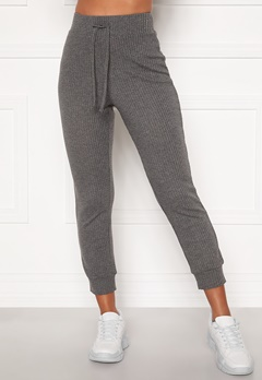 Happy Holly Selena cosy pants Grey melange Bubbleroom.eu