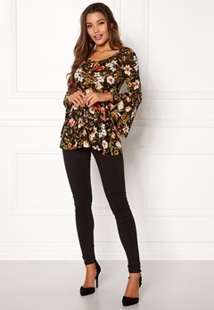 Happy Holly Shirley mesh top Black / Patterned Bubbleroom.eu