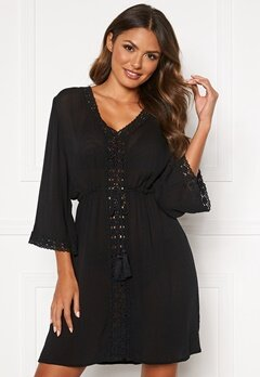 Happy Holly Sienna beach tunic Black Bubbleroom.eu