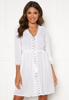 Happy Holly Sienna beach tunic White Bubbleroom.eu