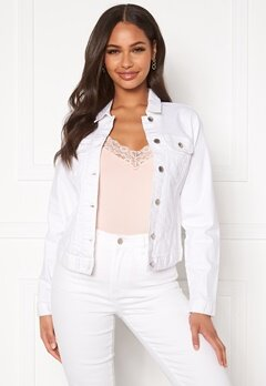 Happy Holly Skyler denim jacket White Bubbleroom.eu
