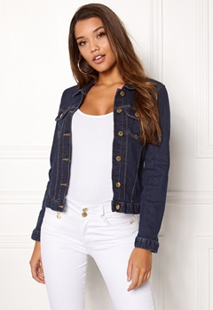 Happy Holly Skyler denim jacket Dark denim Bubbleroom.eu