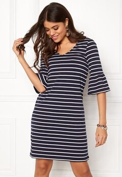 Happy Holly Sophia dress Navy / Striped Bubbleroom.eu