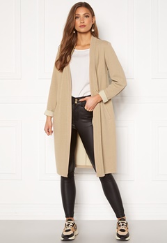 Happy Holly Stefanie tricot coat Beige Bubbleroom.eu