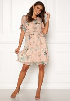 Happy Holly Teodora occasion dress Dusty pink / Patterned Bubbleroom.eu