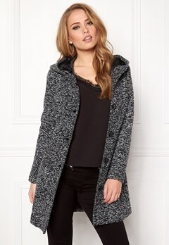 Happy Holly Teresia coat Black Bubbleroom.eu