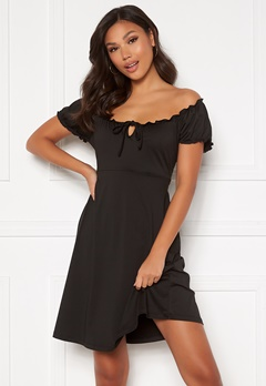 Happy Holly Tessan dress Black Bubbleroom.eu