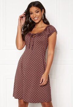 Happy Holly Tessan dress Dusty pink / Dotted Bubbleroom.eu