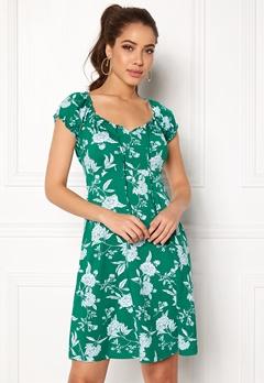 Happy Holly Tessan dress Green / Offwhite Bubbleroom.eu