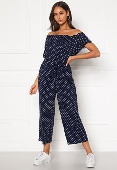 Happy Holly Tessan jumpsuit Dark blue / Patterned Bubbleroom.eu