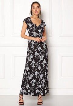 Happy Holly Tessie maxi dress Black / Offwhite Bubbleroom.eu