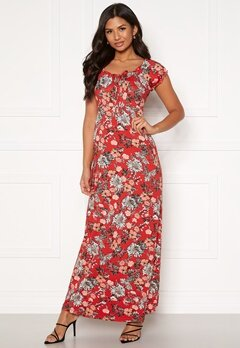 Happy Holly Tessie maxi dress Red / Patterned Bubbleroom.eu